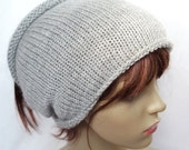 ON Sale Grey Knitted Tube Ski Hat Neck Warmer Mid Gray Grey