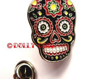 Sugar Skull Enamel Pin by Dolly Cool - Dia De Los Muertos - Day of the Dead