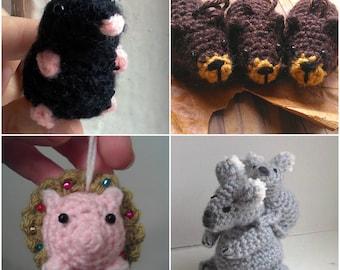 Easter Bunny Pattern crochet bunny pattern by MossMountain