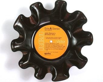 John Denver Vinyl Record Bowl Vintage LP Album 1973 (Greatest Hits) RCA Victor Orange Label