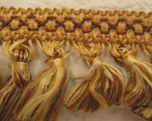 Retro Tassel Trim Gold 2 1/2 yards x 2 inches long