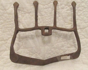 Antique Tool Cast Iron Fork may be hand made SALE
