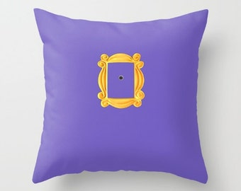 Friends Throw Pillow or Cover, Best Friends Gift, Friends, Purple Pillow, Purple Pillow Cover