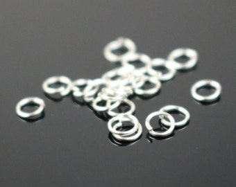 3mm THIN Jump Rings, 200 Silver Plated Jump Rings Jumprings Open 3x0.4mm 26 Gauge 26G Link Connector Jump Rings - ship from California USA