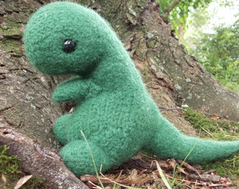 T-Rex stuffed animal, Tyrannosaurus Rex plush, dinosaur amigurumi, dinosaur plush, knit dinosaur plush, amigurumi dino, ready to ship!