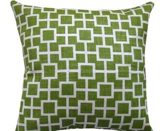 Green Throw Pillow  - Robert Allen Cats Cradle Grass Green Decorative Pillow Free Shipping