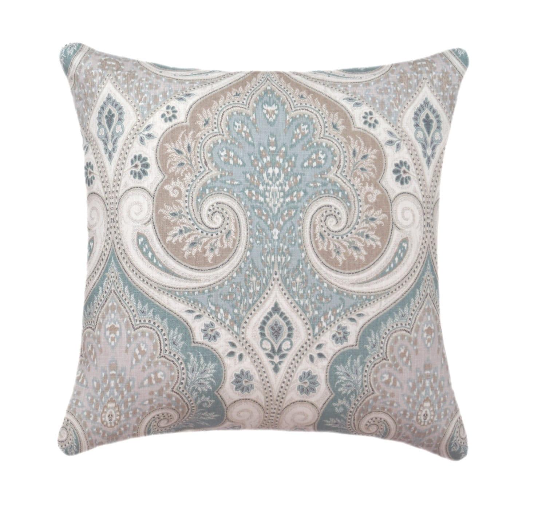 Kravet STUFFED Throw Pillow Latika Seafoam Pillow Double