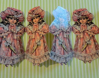 Victorian Girl Reproduction 1980s Six Foot Garland for Little Girls Room Holidays or Party