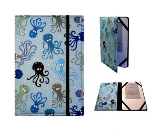 Kindle Paperwhite Cover, Kindle Cover Hardcover, Kindle Case,Kindle Fire HDX, NookGlowLight (New Elastic Corners Inside) Octopus