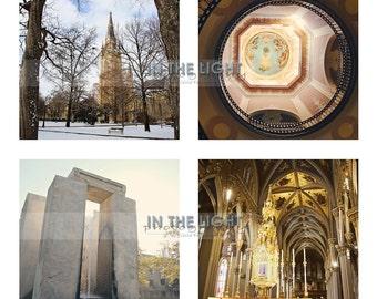 READY TO SHIP - University of Notre Dame - Set of 12 5x5 Photo Prints - Fine Art Photograpy - fPOE