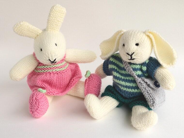 Rabbit Knitting Pattern Toy : Toy knitting pattern rabbit robert and