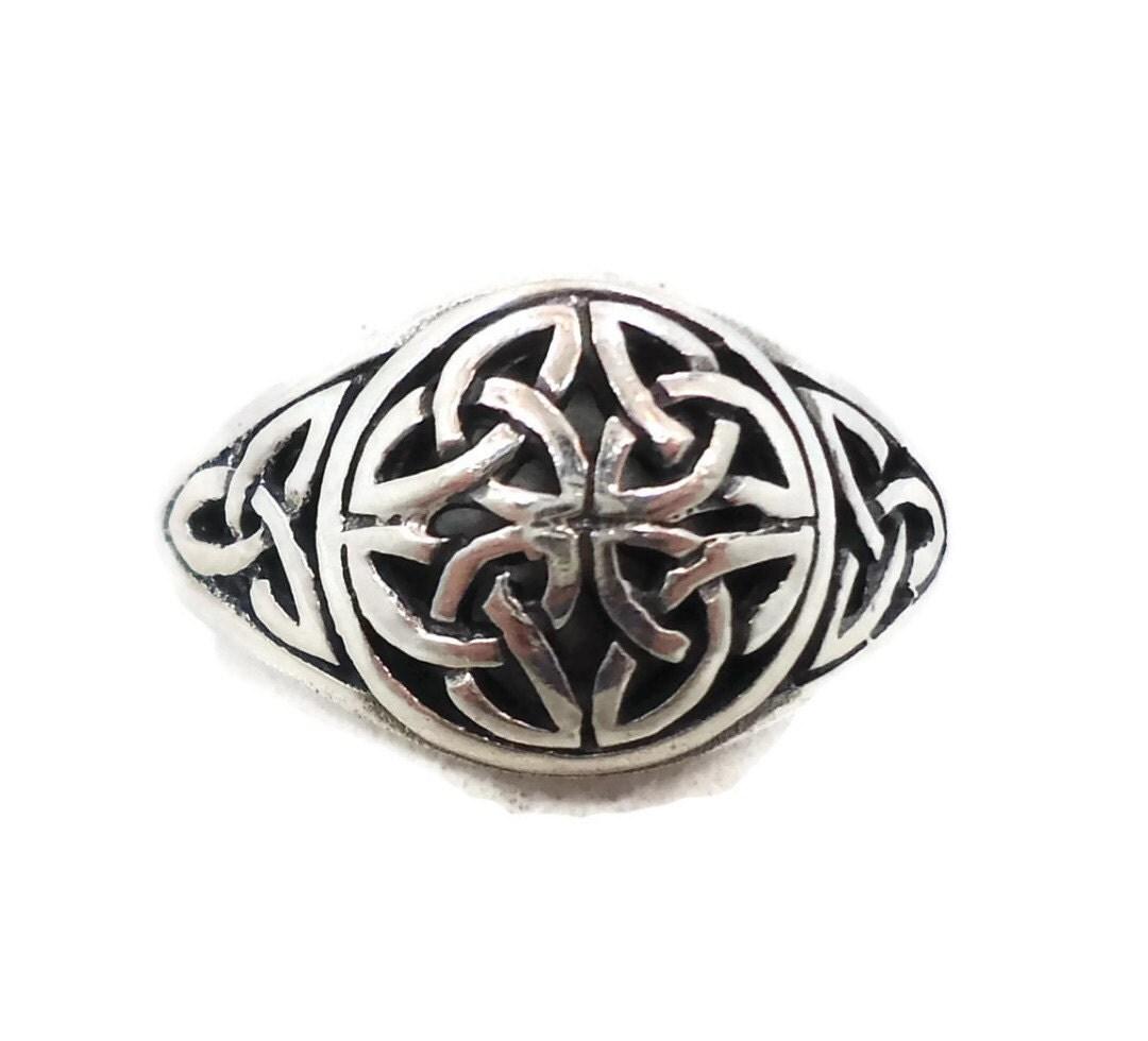 celtic knot ring sterling silver celtic band vintage ring
