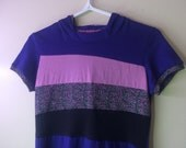 Funky Hooded TShirt - Size Small purple