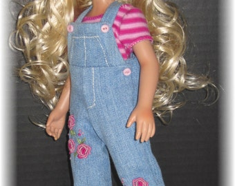 Embroidered Overall Outfit for LeeAnn / Aadi Beju BJD Affordable Designs Dolls