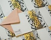 Mistletoe Card Block Printed By Hand