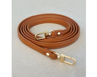 """Extra Petite Leather Strap - 0.375"""" (3/8in) Wide - Choose GOLD or NICKEL Clasp - Length & Color"""