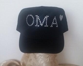 Crystal OMA Military Cap
