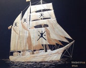 Sail ship of Sultanate of OMAN  Handmade with leaves of rice plant  Tallship of Oman SHABABOMAN