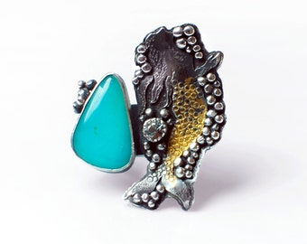 Blue Mermaid ring