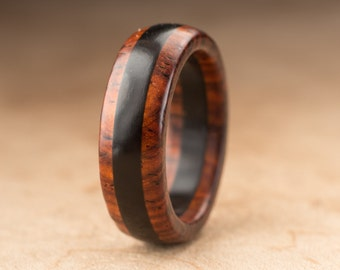 Size 8 - Cocobolo Ebony Wood Ring