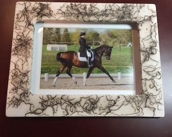 HORSE FRAME horse hair pottery earthenware pottery Pet Memorial