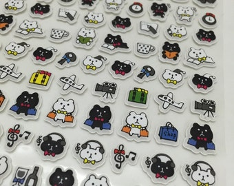 Cute Puffy Stickers - We Love Kitty Cats....Meow...part3
