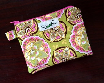 "7""x5"" Tab-Handled Wetbag ~ Lotus Cotton with PUL Lining ~ by Talulah Bean"