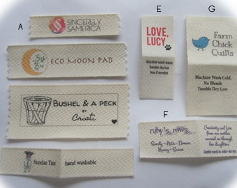 Custom Clothing Labels-100% Cotton Twill sew in labels