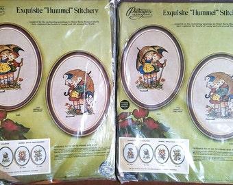 2 Vintage Paragon Needlecraft Hummel Umbrella Children Kits