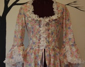 Country flower peasant Summer garden Easter Antoinette Victorian inspired rococo costume top bodice