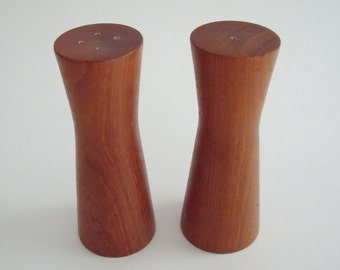 Vintage Danish Modern Teak Salt and Pepper Shakers