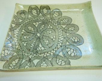 Decorative platter/tray/plate Rectangular ceramic