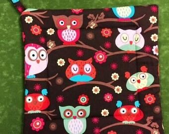 Owls Potholder