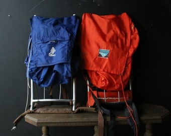 Your Choice Between Blue Hillary And Red Camp King Backpack Vintage From Nowvintage on Etsy