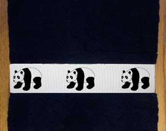 Giant Panda Bear Bath Towel -  Heavy Cotton - With or without name