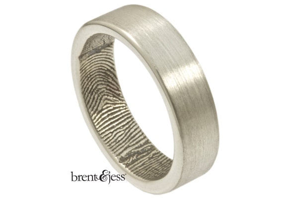 the original handcrafted fingerprint ring with wrapped print