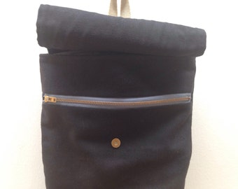 Canvas Backpack Women. Bohemian Hippie Backpack. Rucksack Backpack. Boho Bag. Women's Small Purse Bag. Wax Canvas Knapsack. Knapsack Bag.