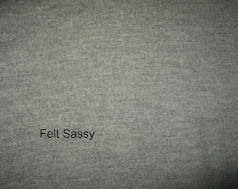 SALE - Supply - Felted Wool Sweater - Grey  - Recycled Fabric Material