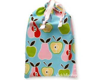 Retro Planner Cover Pouch Drawstring Bag Apples Pears Kawaii Planner Cover Drawstring Pouch Sweet Journal Notebook Gift Bags