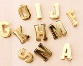 Vintage Gold Initial Pins - a,f,g,h,i,j,k,m,n,o,p,r,s