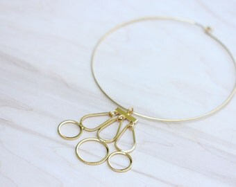 Gold Shapes Collar Necklace