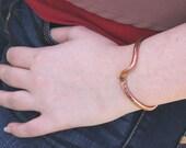 Thick Copper Bracelet Wave Cuff - Item #200104