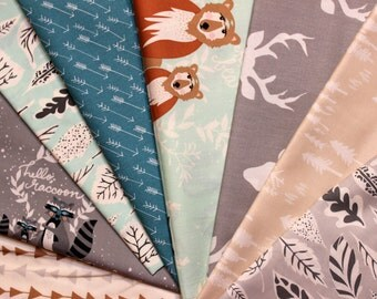 Hello Bear, Rag Quilt Kit, DIY Natural, Cotton, Baby Blanket Kit, Blue, Gray, Black, Brown, Flannel back, Baby, Boy, Prewashed, Ready to Sew