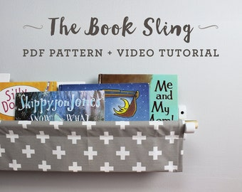 Book Sling PDF Pattern and Video Tutorial - Instant Download