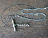 Hallmarked Antique Silver Snake Chain with Pocket Watch Winder