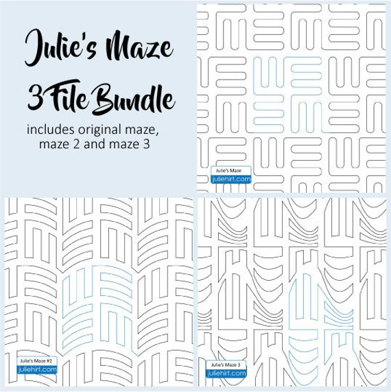 JULIE'S MAZE BUNDLE - Quilting Digital Pattern for Edge to Edge and Pantograph Handiquilter Gammill Statler Stitcher Long Arm Machine