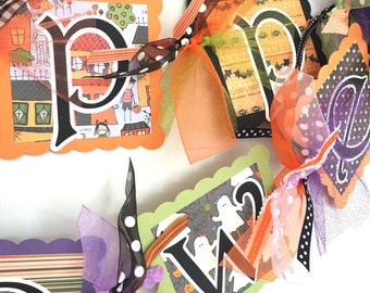 Happy Halloween Banner Trick or Treat Party Decoration