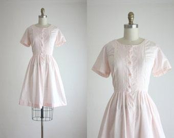 1950s blush lace dress