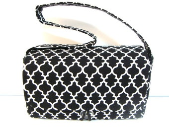 Super Large Size Coupon Organizer / Budget Organizer Holder Box - Black and White Lattice