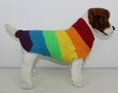 Chunky Spectrum Dog Coat knitting pattern by madmonkeyknits - instant digital file pdf download knitting pattern